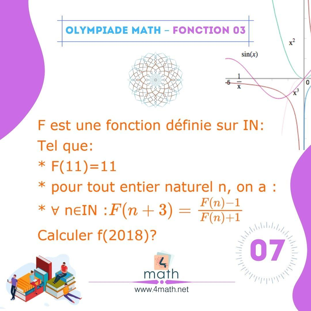Olympiade Math Fonction